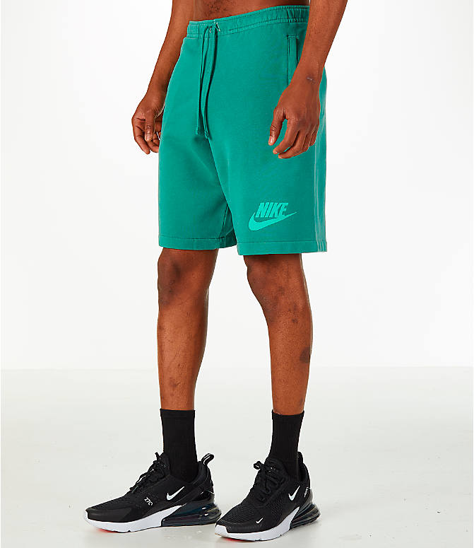 Front Three Quarter view of Men's Nike Sportswear Wash Pack Shorts