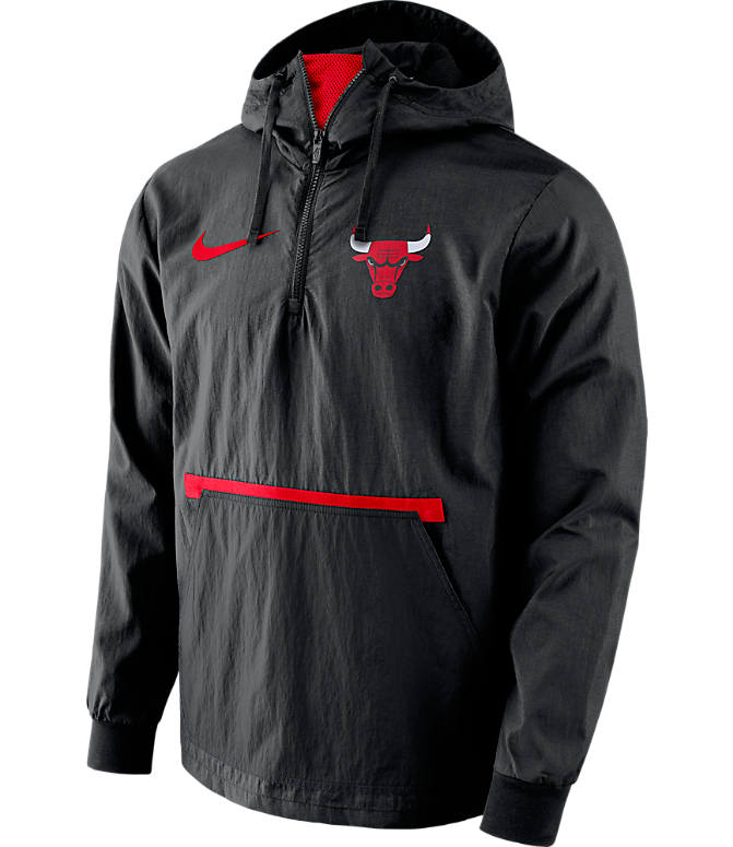Front view of Men's Nike Chicago Bulls NBA Packable Jacket in Red/Black