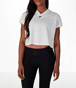 Women's Nike Sportswear Crop V-Neck T-Shirt