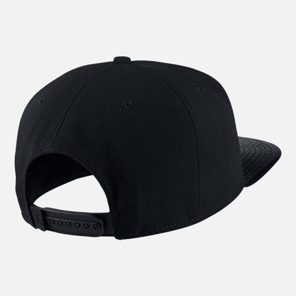 Back view of Unisex Jordan Jumpman Pro Retro 10 Snapback Hat in Black/White