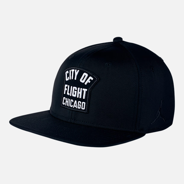 "Front view of Unisex Jordan Jumpman Pro ""CITY OF FLIGHT"" Zip Snapback Hat"