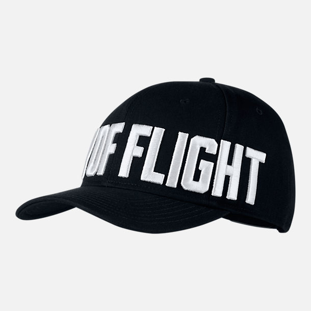 "Front view of Unisex Jordan Jumpman Classic99 ""City Of Flight"" Hat in Black/White"