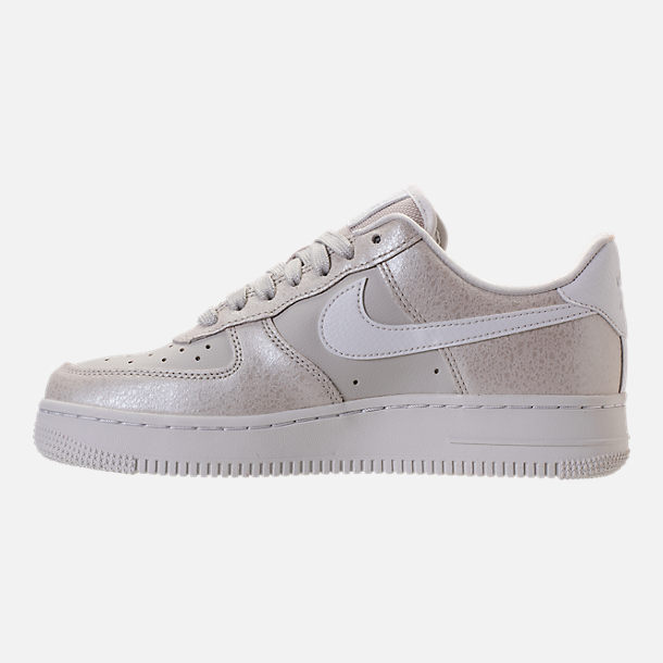 Left view of Women's Nike Air Force 1 '07 Premium Casual Shoes in Light Bone/Metallic Summit White
