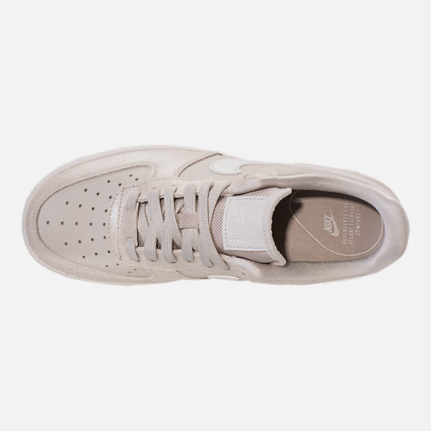 Top view of Women's Nike Air Force 1 '07 Premium Casual Shoes in Light Bone/Metallic Summit White
