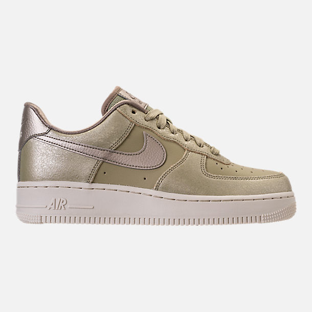 Right view of Women's Nike Air Force 1 '07 Premium Casual Shoes in Neutral Olive/Bronzed Olive/Neutral