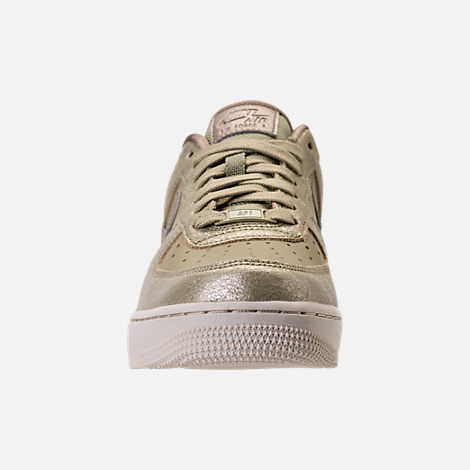 Front view of Women's Nike Air Force 1 '07 Premium Casual Shoes in Neutral Olive/Bronzed Olive/Neutral