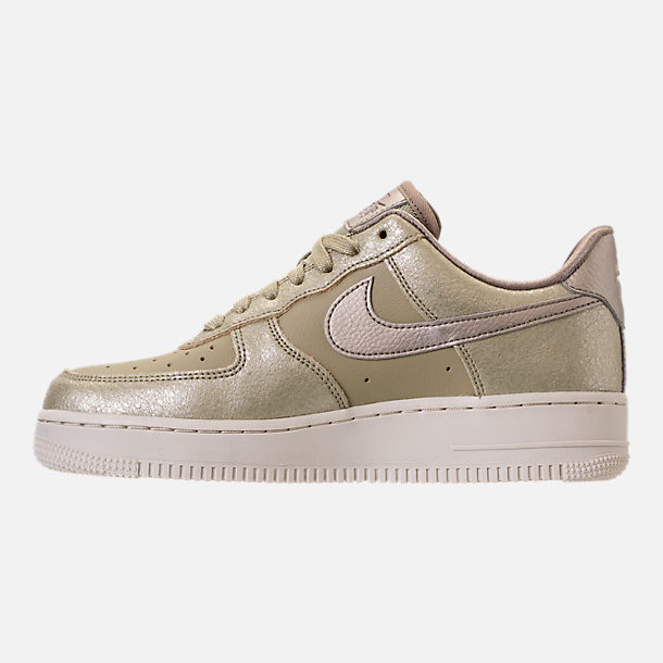 Left view of Women's Nike Air Force 1 '07 Premium Casual Shoes in Neutral Olive/Bronzed Olive/Neutral