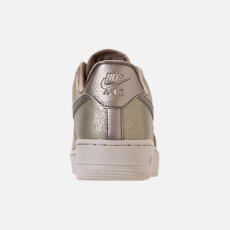 Back view of Women's Nike Air Force 1 '07 Premium Casual Shoes in Neutral Olive/Bronzed Olive/Neutral