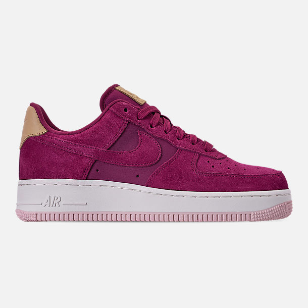 Right view of Women's Nike Air Force 1 '07 Premium Casual Shoes in True Berry/Summit White