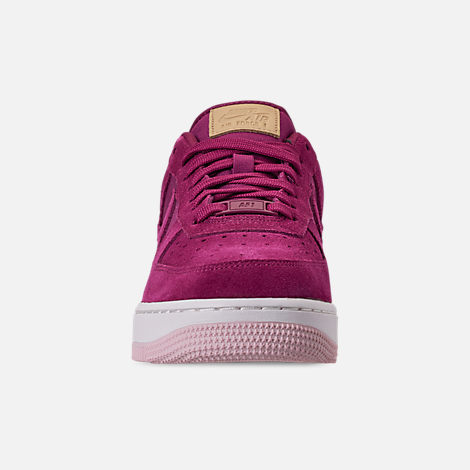 Front view of Women's Nike Air Force 1 '07 Premium Casual Shoes in True Berry/Summit White