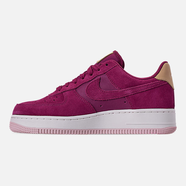 Left view of Women's Nike Air Force 1 '07 Premium Casual Shoes in True Berry/Summit White
