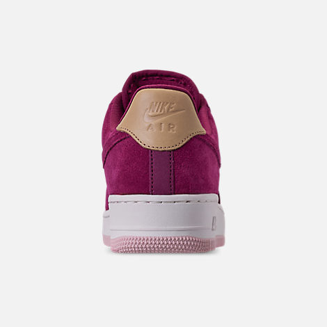 Back view of Women's Nike Air Force 1 '07 Premium Casual Shoes in True Berry/Summit White