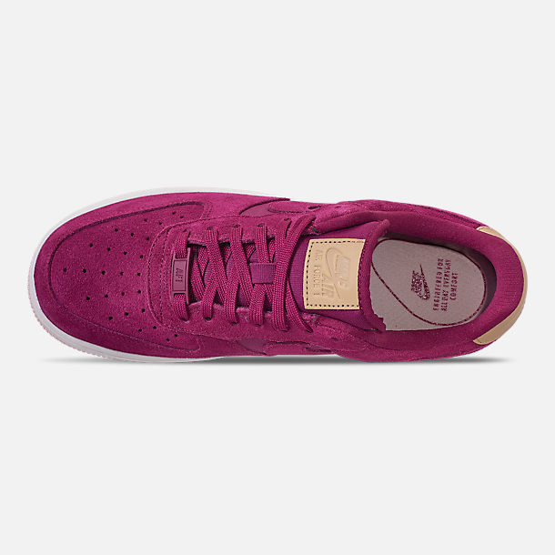 Top view of Women's Nike Air Force 1 '07 Premium Casual Shoes in True Berry/Summit White