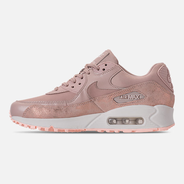 Left view of Women's Nike Air Max 90 Premium Casual Shoes in Particle Beige/Particle Beige/Summit White