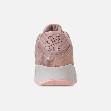 Back view of Women's Nike Air Max 90 Premium Casual Shoes in Particle Beige/Particle Beige/Summit White
