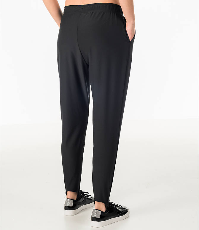 Back Right view of Women's Nike Dry Gym Stirrup Training Pants in Black