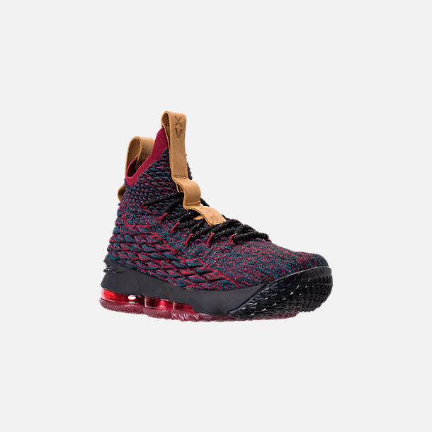 Three Quarter view of Men's Nike LeBron 15 Basketball Shoes