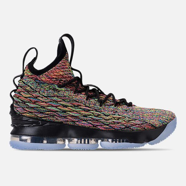 Right view of Men's Nike LeBron 15 Basketball Shoes in Multicolor/Black