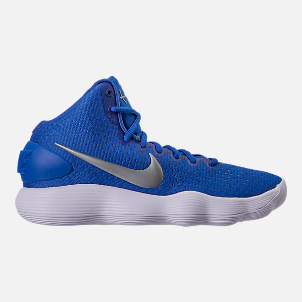 right view of mens nike react hyperdunk 2017 tb basketball shoes in game royal metallic