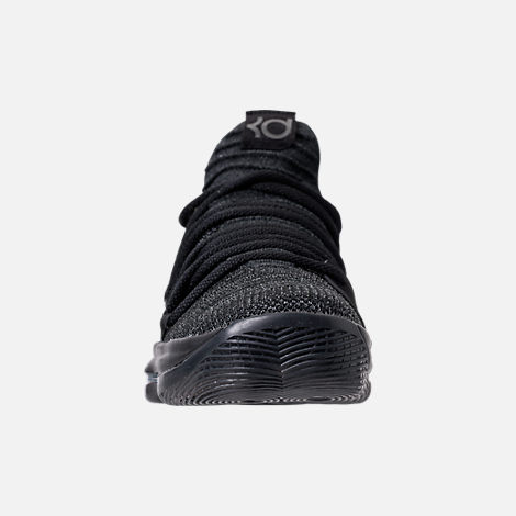 Front view of Men's Nike Zoom KDX Basketball Shoes in Black/Black