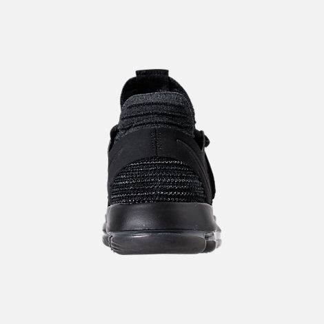 Back view of Men's Nike Zoom KDX Basketball Shoes in Black/Black