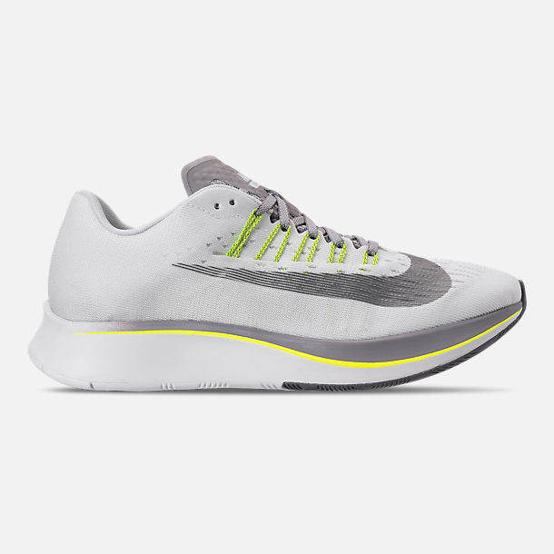 Right view of Women's Nike Zoom Fly Running Shoes in White/Black/Bright Crimson/Volt