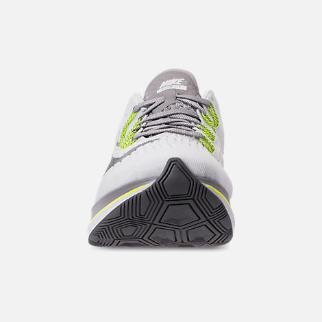 Front view of Women's Nike Zoom Fly Running Shoes in White/Black/Bright Crimson/Volt