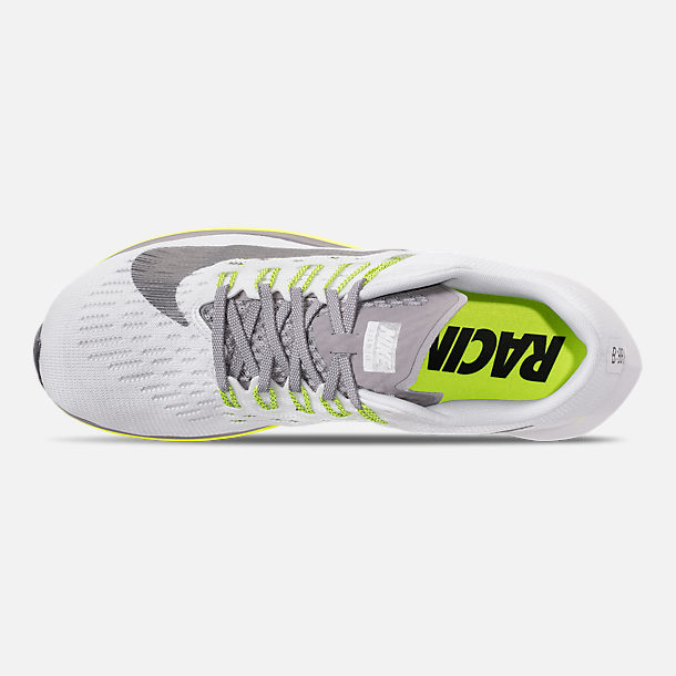 Top view of Women's Nike Zoom Fly Running Shoes in White/Black/Bright Crimson/Volt
