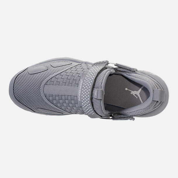 66e56798662d ... Top view of Mens Air Jordan Trunner LX Training Shoes in Wolf GreyWhite  ...