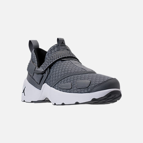 Three Quarter view of Men's Air Jordan Trunner LX Training Shoes in Cool Grey/Black/White