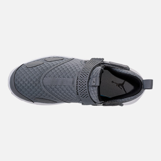 Top view of Men's Air Jordan Trunner LX Training Shoes in Cool Grey/Black/White