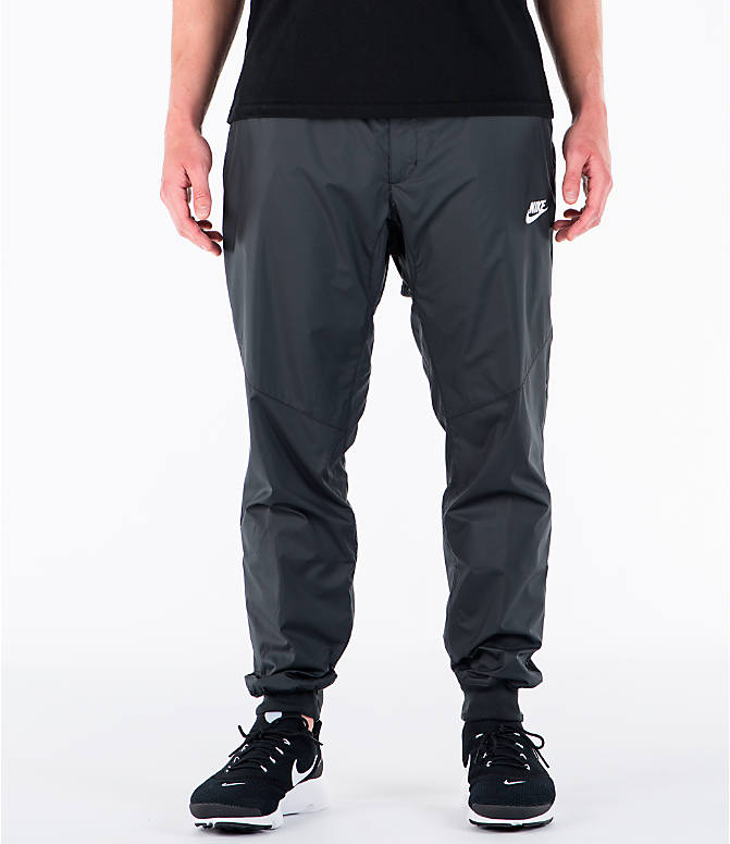 Front view of Men's Nike Sportswear Windrunner Jogger Pants in Black