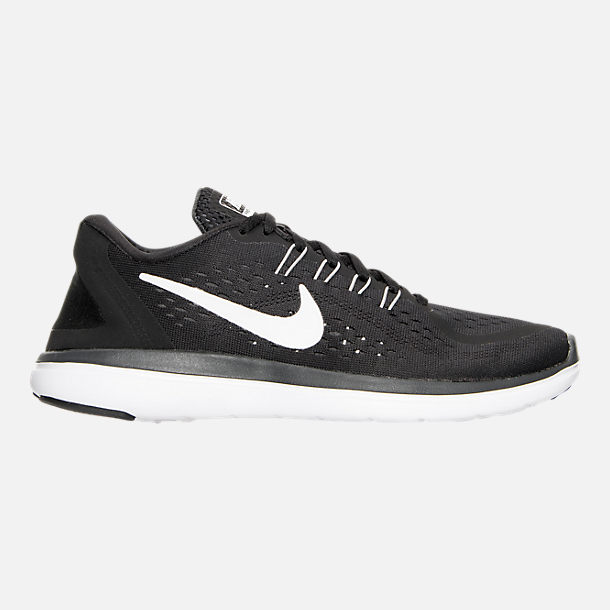 Right view of Womens Nike Flex 2017 RN Running Shoes in BlackWhiteAnthracite
