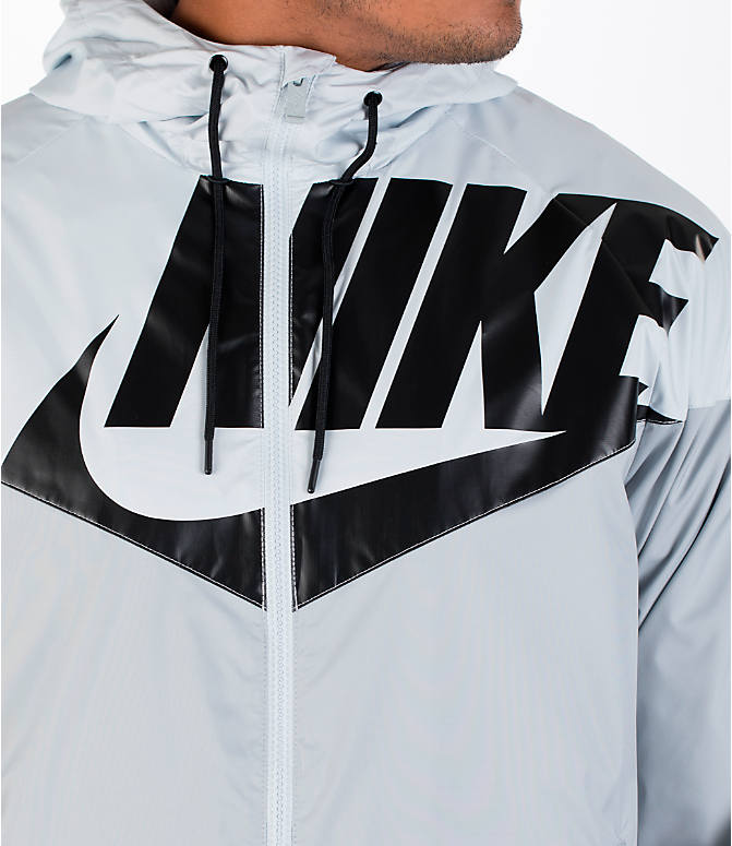 Detail 1 view of Men's Nike GX Windrunner Jacket in White/Black/Grey