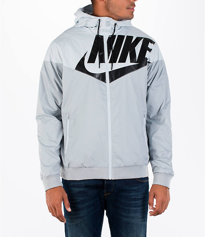 Front view of Men's Nike GX Windrunner Jacket in White/Black/Grey