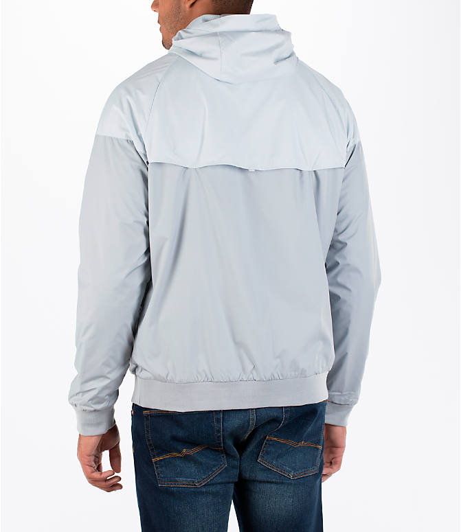 Back Left view of Men's Nike GX Windrunner Jacket in White/Black/Grey