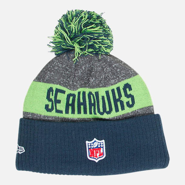 2ed11fc16eb Back view of New Era Seattle Seahawks NFL 2016 Sideline Official Sport Knit  Hat
