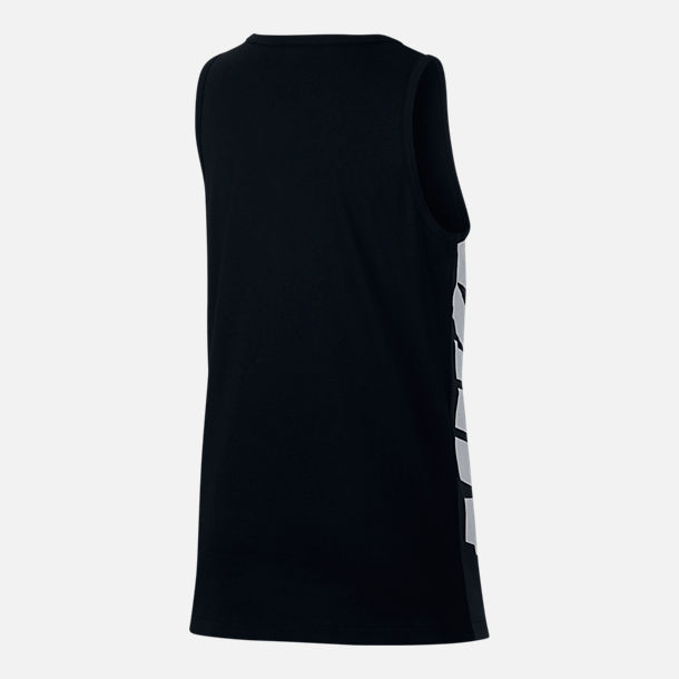 Back view of Boys' Nike Sportswear Tank in Black/Anthracite/White