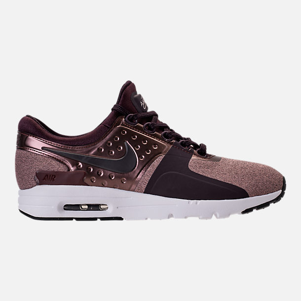 Right view of Women's Nike Air Max Zero Premium Running Shoes in Port Wine/Metallic Mahogany
