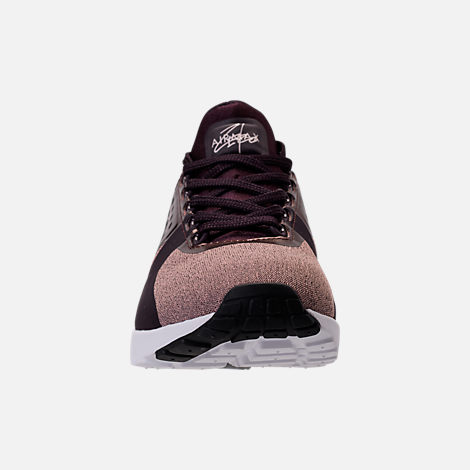 Front view of Women's Nike Air Max Zero Premium Running Shoes in Port Wine/Metallic Mahogany