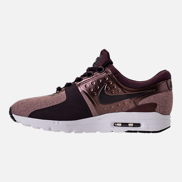 Left view of Women's Nike Air Max Zero Premium Running Shoes in Port Wine/Metallic Mahogany