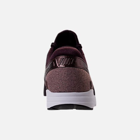 Back view of Women's Nike Air Max Zero Premium Running Shoes in Port Wine/Metallic Mahogany