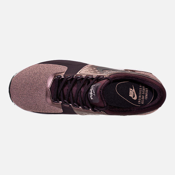 Top view of Women's Nike Air Max Zero Premium Running Shoes in Port Wine/Metallic Mahogany