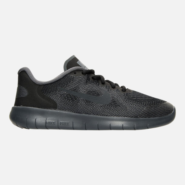 Right view of Boys' Preschool Nike Free RN 2017 Running Shoes in Black/Anthracite/Dark Grey/Cool Grey