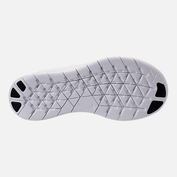 Bottom view of Boys' Preschool Nike Free RN 2017 Running Shoes in White/Black/Pure Platinum