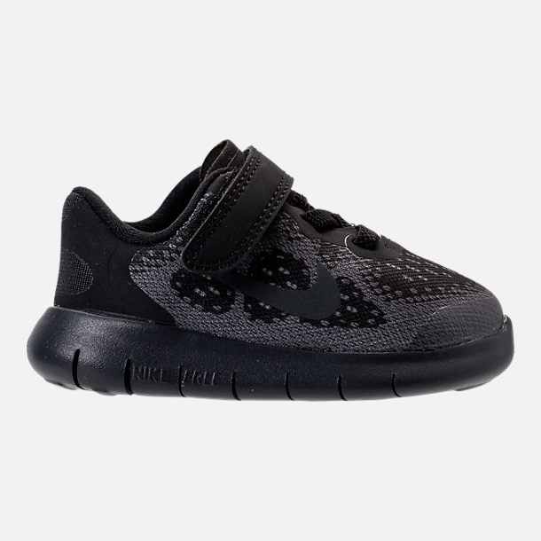 Right view of Boys' Toddler Nike Free RN 2017 Running Shoes in Black/Anthracite/Dark Grey