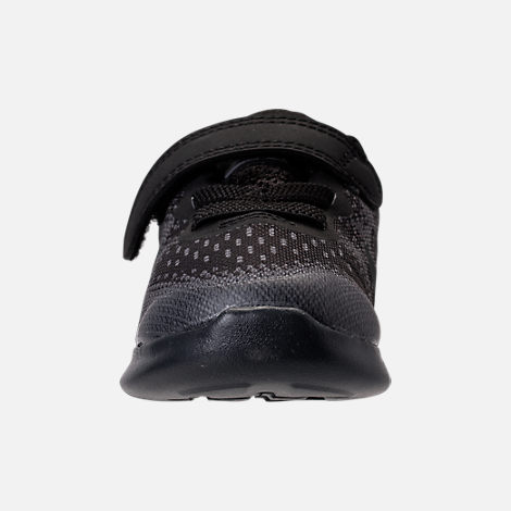 Front view of Boys' Toddler Nike Free RN 2017 Running Shoes in Black/Anthracite/Dark Grey