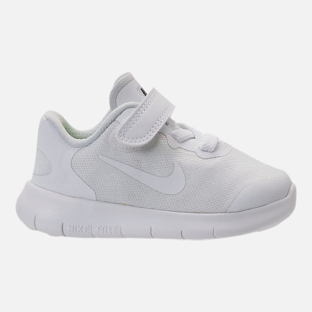 Right view of Boys' Toddler Nike Free RN 2017 Running Shoes in White/Black/Pure Platinum