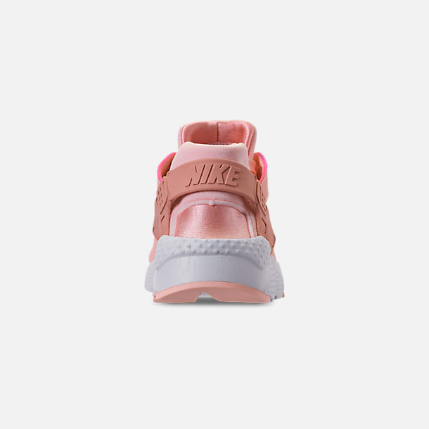 Back view of Girls' Big Kids' Nike Air Huarache Run SE Casual Shoes in Storm Pink/Rust Pink/White