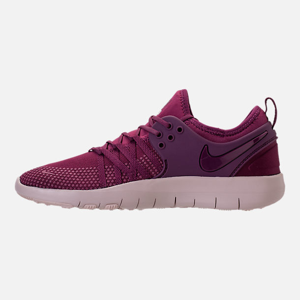 Left view of Women's Nike Free TR 7 Training Shoes in Tea Berry/Bordeaux/